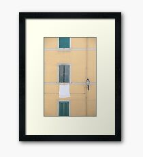 Italian Countryside Windows Framed Print
