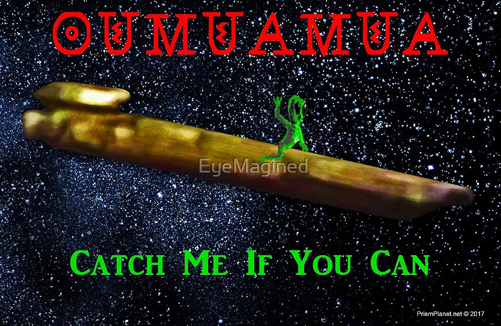 Chasing Oumuamua by EyeMagined