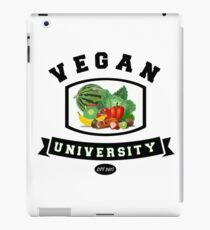 Vegan University (for veggie eating folks) iPad Case/Skin