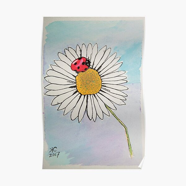 Lady Bug's Daisy Poster