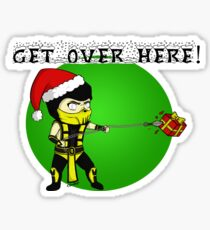 GET OVER HERE! Xmas Style Sticker