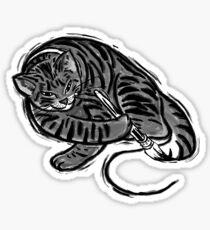 Self Portrait Cat Sticker
