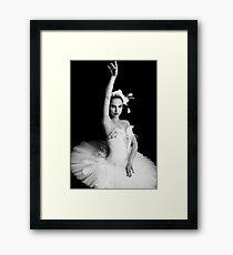 Nina Black Swan Framed Print