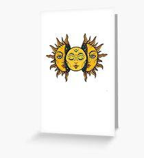 Sonne Grußkarte