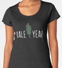Kale Yeah Funny Vegan Pun - Funny Veganism Gift Women's Premium T-Shirt