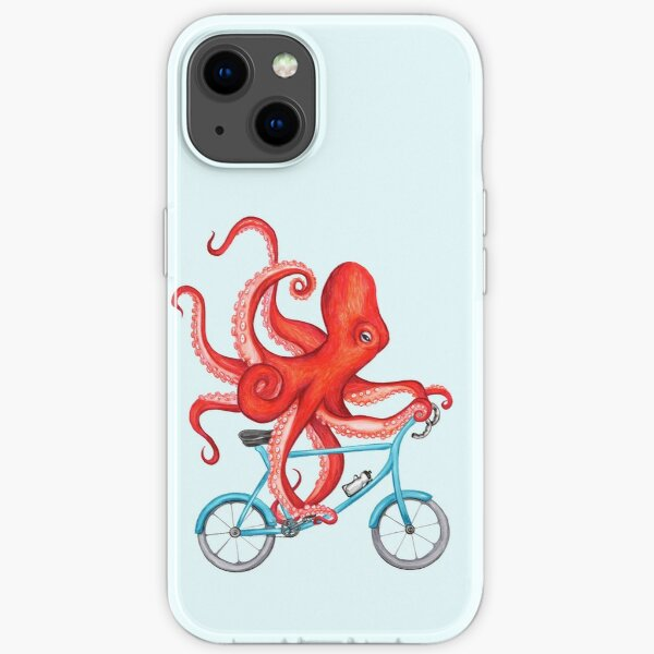 Cycling octopus iPhone Soft Case