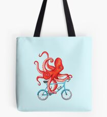 Cycling octopus Tote Bag