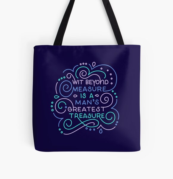 Wit Beyond Measure All Over Print Tote Bag