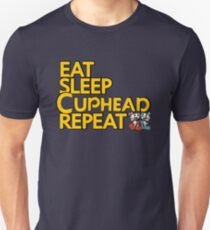 CUPHEAD TSHIRT / EAT SLEEP CUPHEAD REPEAT Unisex T-Shirt