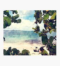 Beautiful Secluded Beach Photographic Print