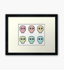 Simple Skull Framed Print