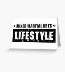 MIXED MARTIAL ARTS LIFESTYLE  Greeting Card