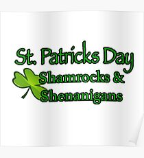 St. Patricks Day Shamrock Poster