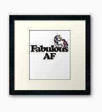 Fabulous AF Unicorn Framed Print