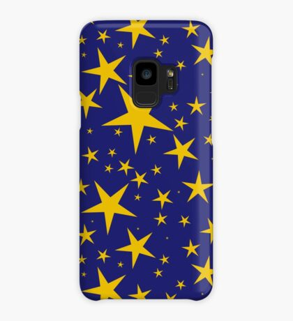 Stars (gold on blue) Case/Skin for Samsung Galaxy