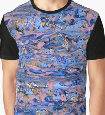 Abstract blue painting Graphic T-Shirt