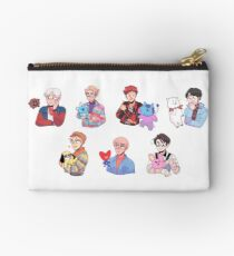 BTS with their BT21 friends!!! Studio Pouch