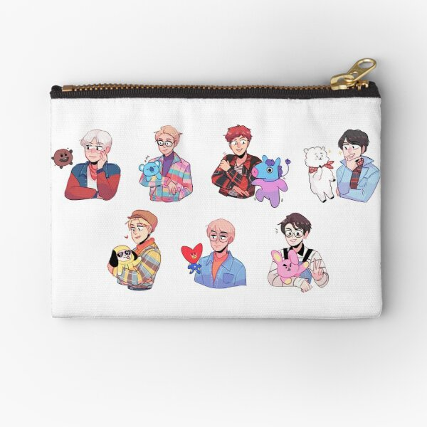 BTS with their friends!!! Zipper Pouch