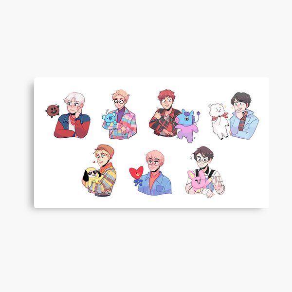 BTS with their friends!!! Metal Print