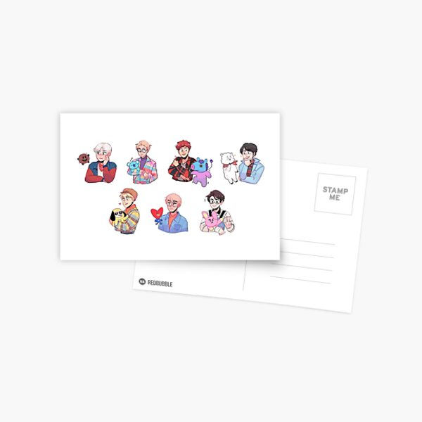 BTS with their friends!!! Postcard