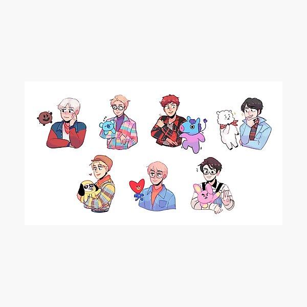 BTS avec leurs amis !!! Impression photo