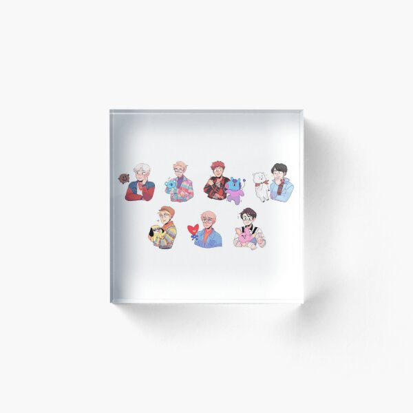 BTS with their friends!!! Acrylic Block