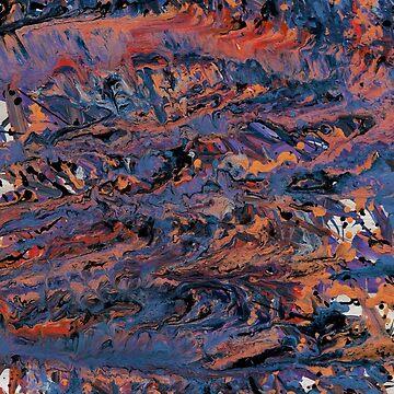 Dark paint strokes by afremovartist
