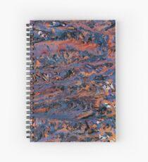 Dark paint strokes Spiral Notebook