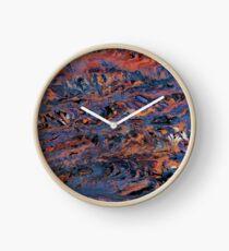 Dark paint strokes Clock