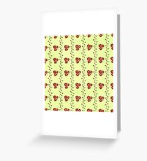Floral Stripes Greeting Card