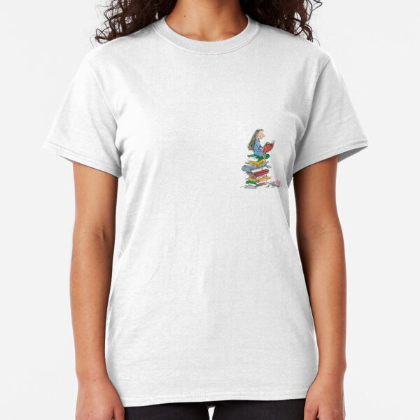 matilda roald dahl watercolour illustration Classic T-Shirt