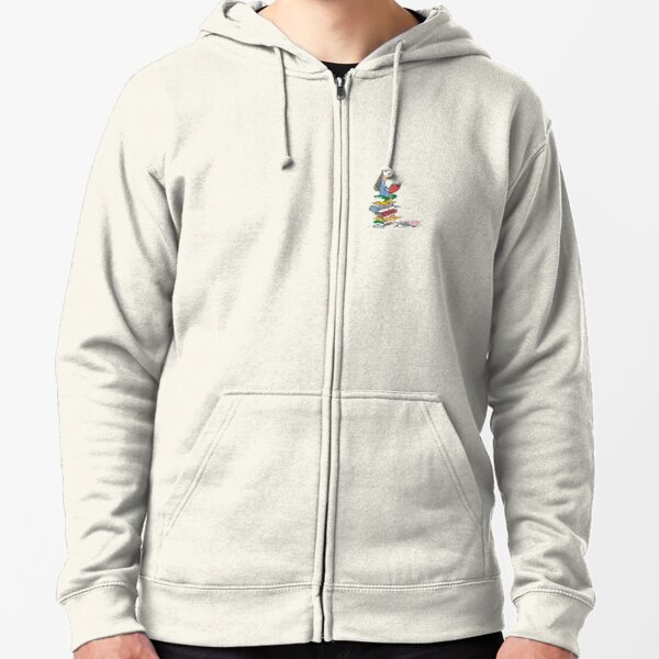 matilda roald dahl watercolour illustration Zipped Hoodie