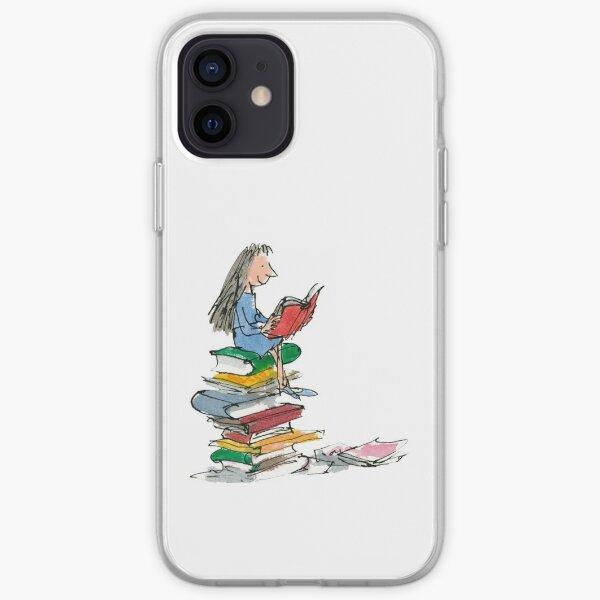 matilda roald dahl watercolour illustration iPhone Soft Case