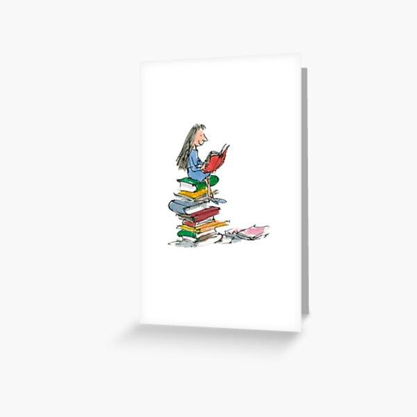 matilda roald dahl watercolour illustration Greeting Card