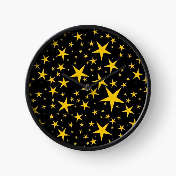 NDVH Stars (gold on black) Clock