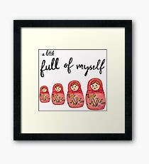 Such a Doll - Russian Doll Watercolor Framed Print
