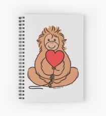 Lovable Orangutan Spiral Notebook