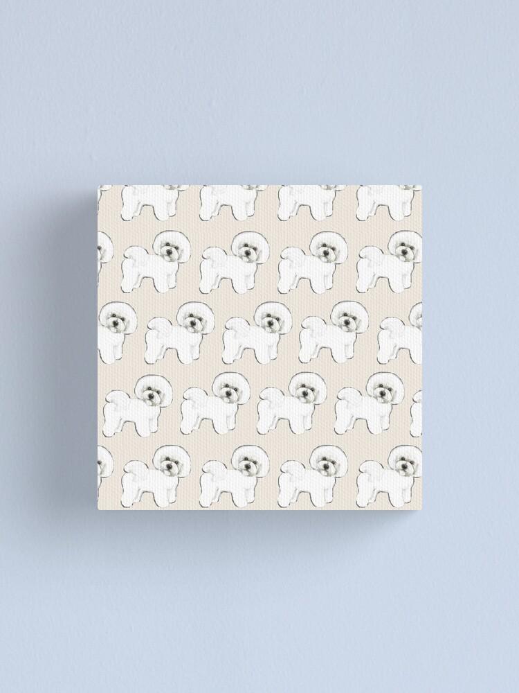 Alternate view of Bichon Frise on Cream Canvas Print