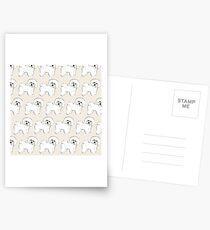 Bichon Frise on Cream Postcards