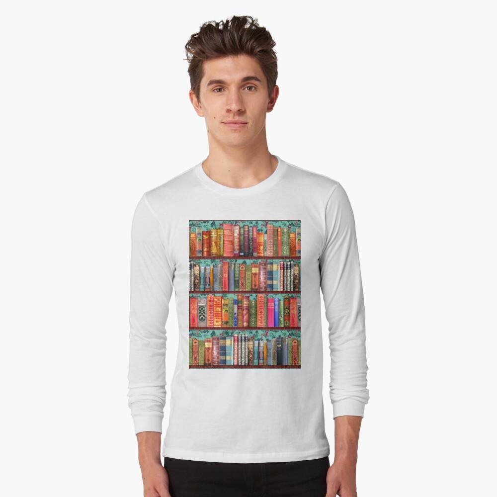 Christmas vintage books, holly  Long Sleeve T-Shirt
