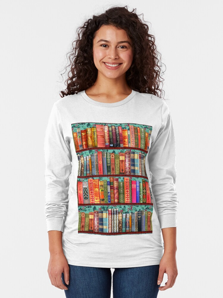 Alternate view of Christmas vintage books, holly  Long Sleeve T-Shirt