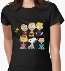 Charlie Brown, Snoopy and Peanuts Gang Women's Fitted T-Shirt