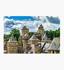 Fougeres castle in Bretagne, France, sunny day, tourism concept Photographic Print