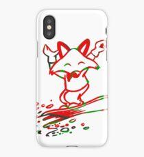 Cute Snowboarding Fox  iPhone Case/Skin
