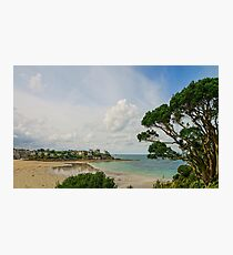 Old castles on seaside in Brittany, autumn, cloudy weather, France Photographic Print