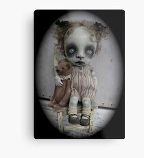 Creepy Little Girl Art Doll. Metal Print