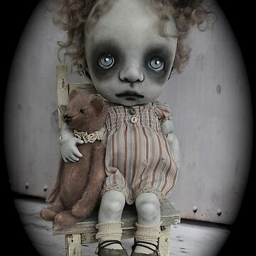 Creepy Little Girl Art Doll. by darkalleydolls