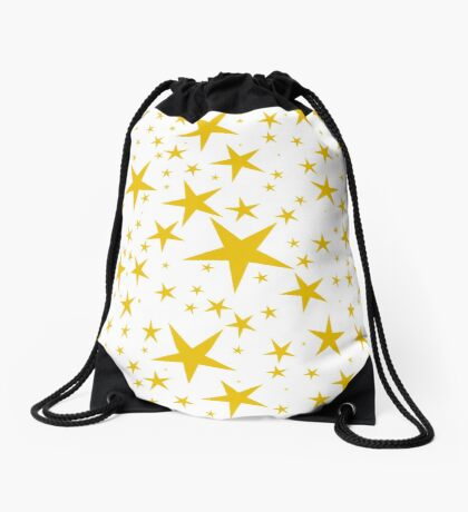 NDVH Stars (gold on white) Drawstring Bag