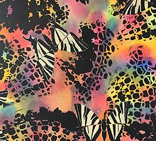Swallowtail Butterflies on Black Lace by PrintsByJane