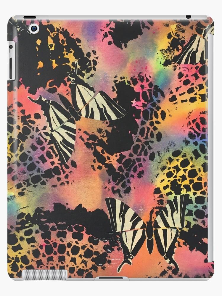 Swallowtail Butterflies on Black Lace by PrintsByJane
